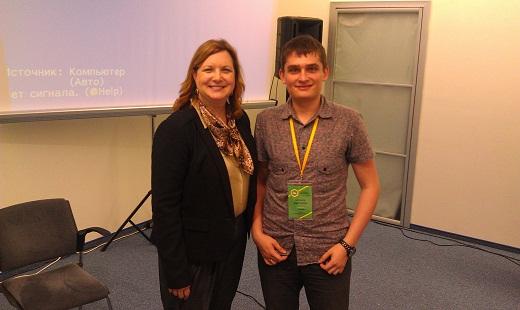 Gillian Muessig и я на SemCamp